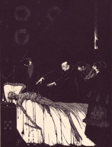Edgar Allan Poe – The Facts in the case of M. Valdemar, ilustración de Harry Clarke (1919)