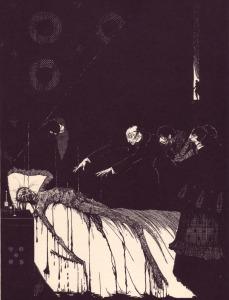 Edgar Allan Poe – The Facts in the case of M. Valdemar, ilustración de Harry Clarke (1919)