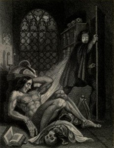 Mary Shelley - Frankenstein, or The Modern Prometheus, ilustración de Theodor von Holst (1831)