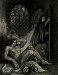 Mary Shelley - Frankenstein, or The Modern Prometheus, ilustración de Theodor von Holst (1831)