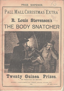 Robert Louis Stevenson – The Body Snatcher, en Pall Mall Christmas Extra (1884)