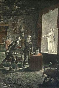 Jules Verne - Le Château des Carpathes, ilustración de Léon Benett (1893).