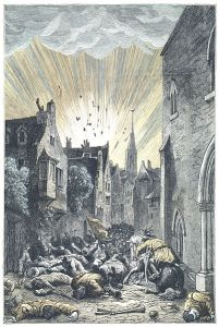 Jules Verne – Le Docteur Ox, ilustración de Lorenz Frølich (1874)