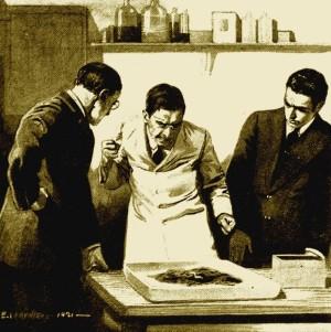 Edgar Wallace - The Man Who Hated Earthworms, ilustración de Antoine Verpilleux (1921)