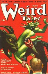 Cubierta de la revista Weird Tales de 1942
