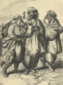 Anónimo – Las Mil y una Noches, ilustración de Thomas Dalziel para la edición inglesa de 1865