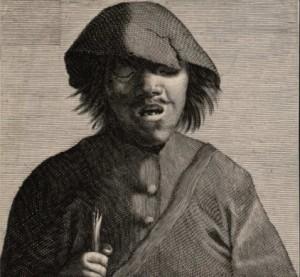Anónimo del S. XVII - Ciego con bastón