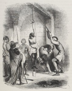 Giovanni Boccaccio - Decamerón: El Falso Paralítico, ilustración de la edición francesa de 1846