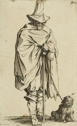 Jacques Callot - Les Gueux: El ciego y su perro (1622)