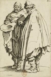 Jacques Callot - Les Gueux: Un ciego y su compañero (1622)