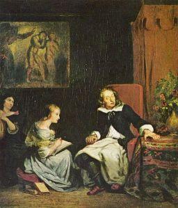 Eugène Delacroix - Milton dictando «El Paraíso perdido» a sus hijas (1826)
