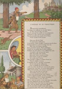 Jean-Pierre Claris de Florian - L'Aveugle et le paralytique, ilustración de Benjamin Rabier (1936)