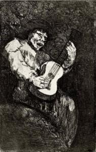 Francisco de Goya y Lucientes - El Cantor ciego (1820-1823)