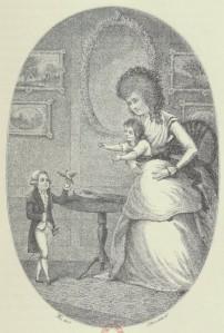 Frontispicio de las memorias de Józef Boruwłaski (1788)