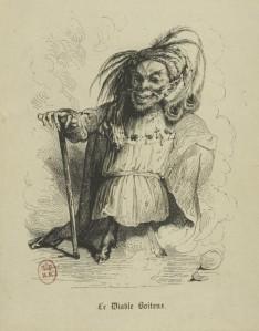 Alain-René Lesage - Le Diable boîteux, ilustración de Tony Johannot (1840)