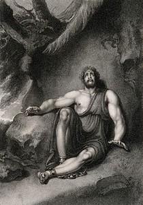 John Milton - Samson Agonistes, ilustración de R. Westall
