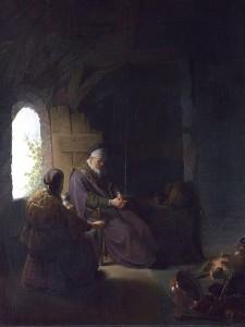 Rembrandt - Anna y el ciego Tobías (163?)