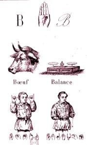 Jérôme Clamaron - Alphabet dactylologique : orné de dessins variés présentant deux exemples pour l'application de chacun des signes dactylologiques (1873)