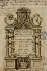 Juan de Pablo Bonet - Reduction de las letras y arte de enseñar á ablar los mudos