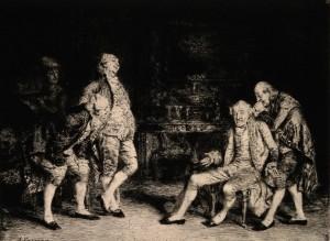A. Casanova – Gastando bromas y gritando a un sordo (1877)