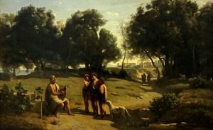 Jean-Baptiste Camille Corot - Homero y los pastores (1845)