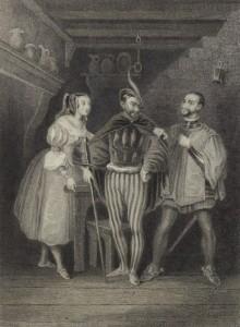 Victor Hugo - Le Roi s'amuse, ilustración de Camille Rogier (1832)