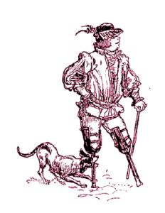 Les Jambes de bois, ilustración de Albert Robida (1913)
