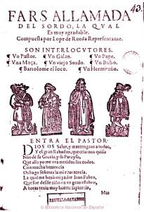 Lope de Rueda - Farsa llamada del sordo la qual es muy agradable (1616)