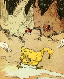 Hans Christian Andersen – El Patito feo, ilustración de John R. Neill (1908)