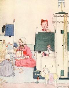 Hans Christian Andersen – El Soldadito de plomo, ilustración de Maxwell Armfielf (1910)