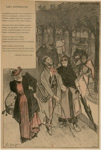 Charles Baudelaire – Les Aveugles, ilustración de Paul Balluriau (189?)