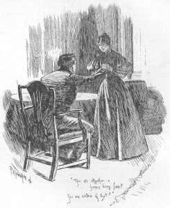 Charlotte Brontë – Jane Eyre, ilustración de F.H. Townsend (1847)