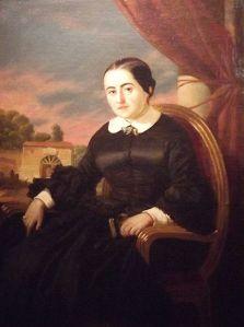 Fernán Caballero, retratada por Valeriano Domínguez Bécquer (1858)