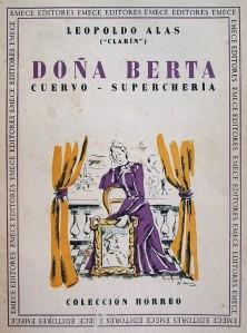 Leopoldo Alas «Clarín» - Doña Berta, edición de 1943