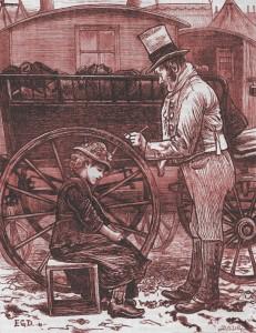 Charles Dickens – Doctor Marigold, ilustración de Edward Dalziel (1877)
