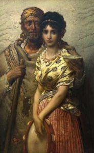 Gustave Doré – Caritas, joven y mendigo ciego, 186?