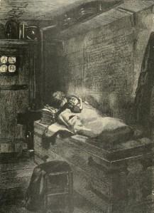 Victor Hugo – L'Homme qui rit, ilustración de Georges Antoine Rochegrosse (1869)