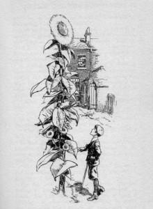 Edith Nesbit – Harding's Luck, ilustración de H.R. Millar (1909)