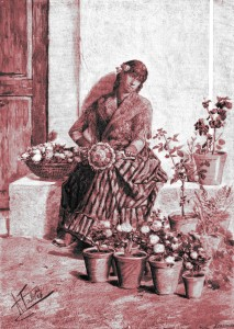 Antonio Fabrés – La Ramilletera (1885)