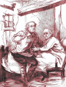Hesba Stretton – Friends till death, fronstispicio de la edición de 1876