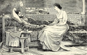 Charlotte Mary Yonge - The Pillars of the house, ilustración de Herbert Gandy (1889)