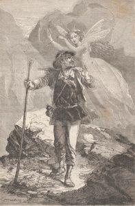 Erckmann-Chatrian – La Reine des abeilles, ilustración de Émile Bayard (1867)