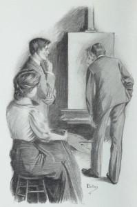 Rudyard Kipling – The Light that failed,ilustración de Reginald Bolles (1909)