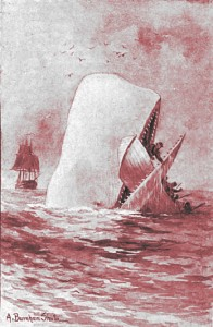 Herman Melville – Moby Dick, ilustración de A. Burnham Shute (1892)
