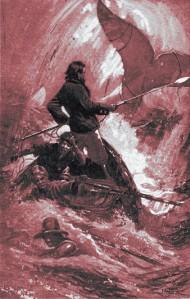 Herman Melville – Moby Dick, ilustración de I. W. Taber (1902)