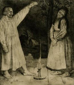 Robert Louis Stevenson – Thrawn Janet, ilustración de William Strang (1899)