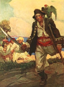 Robert Louis Stevenson – Treasure Island, ilustración de Louis Rhead (1915)