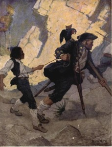 Robert Louis Stevenson – Treasure Island, ilustración de N.C. Wyeth (1911)