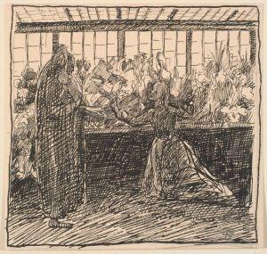 Hans Christian Andersen - Historien om en Moder, ilustración de Fritz Syberg (1898)