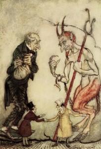 Charles Dickens – A Christmas Carol, ilustración de Arthur Rackham (1915)